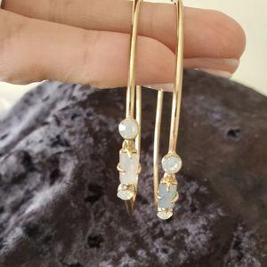 Free People Embellished Hoop Earrings